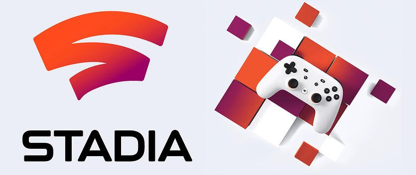 Google Stadia logo and controller