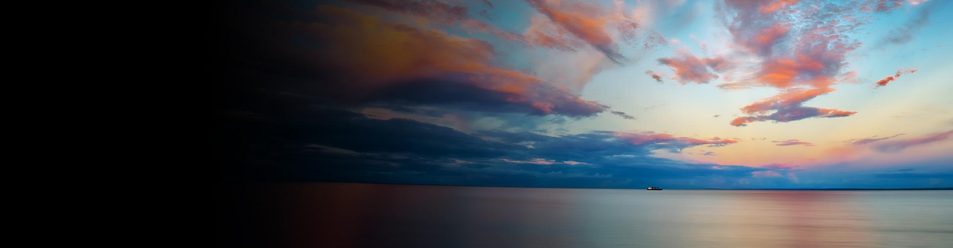 A colorful dawn sky